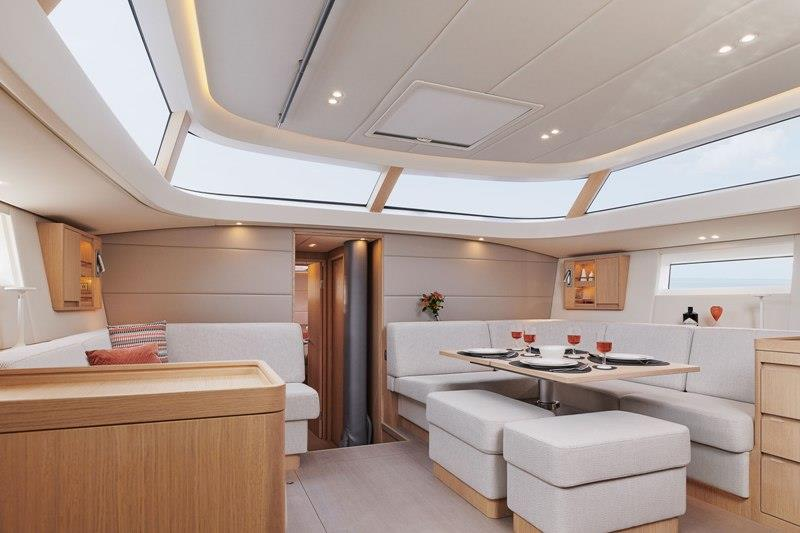 Contest 55CS - saloon from galley photo copyright Contest Yachts taken at  and featuring the Cruising Yacht class