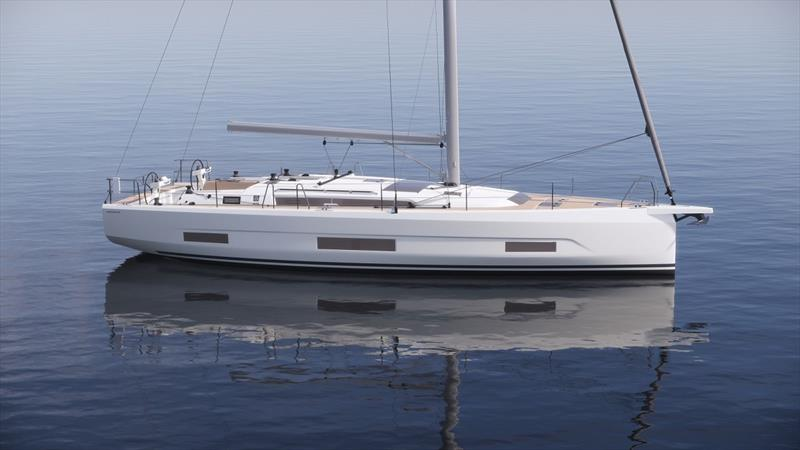 Dufour 470 side view photo copyright Liz Rushall taken at  and featuring the Cruising Yacht class