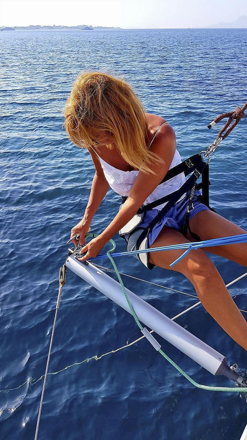 Carla showing she has adapted well to life on the sea. - photo © Sailing Ocean Fox
