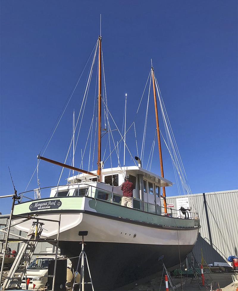 Margaret Pearl nears completion at the Queenscliff adjunct of the Wooden Boat Shop - photo © Wooden Boat Shop