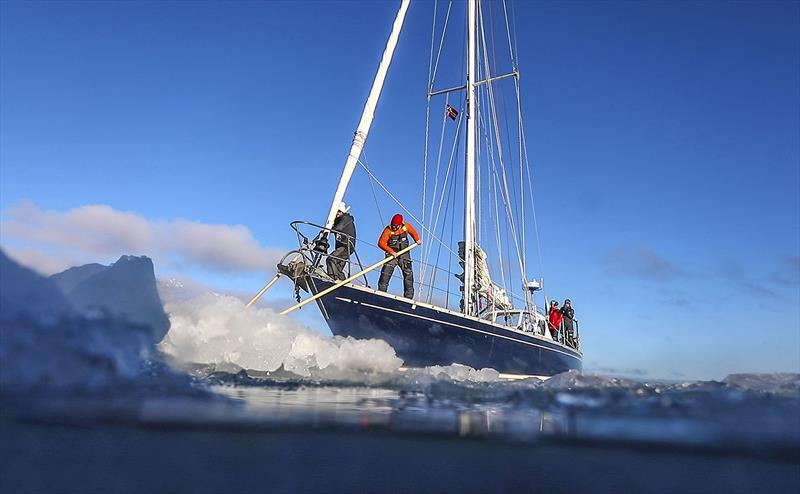 Ice and boats - not the best mix - from the series - 80 degrees North - photo © SV Delos