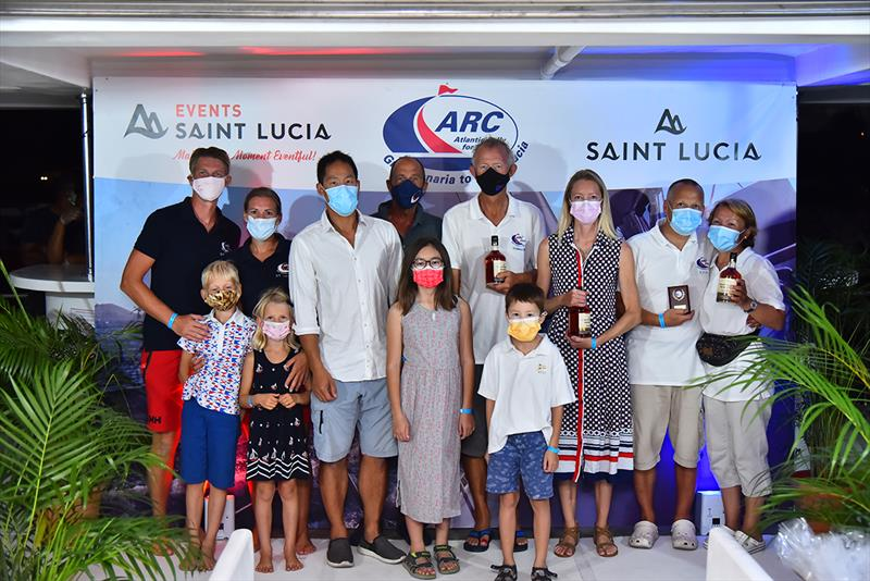 ARC Double Handers to include those with children under 11 - The Kid, Rainmaker, SVALA, Gaviota, Kaizen, Lady Ann photo copyright Bencarson Blaize taken at  and featuring the Cruising Yacht class