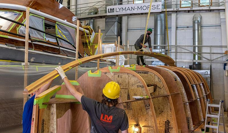 LM46 Hull #1 photo copyright Lyman-Morse Boatbuilding taken at  and featuring the Cruising Yacht class