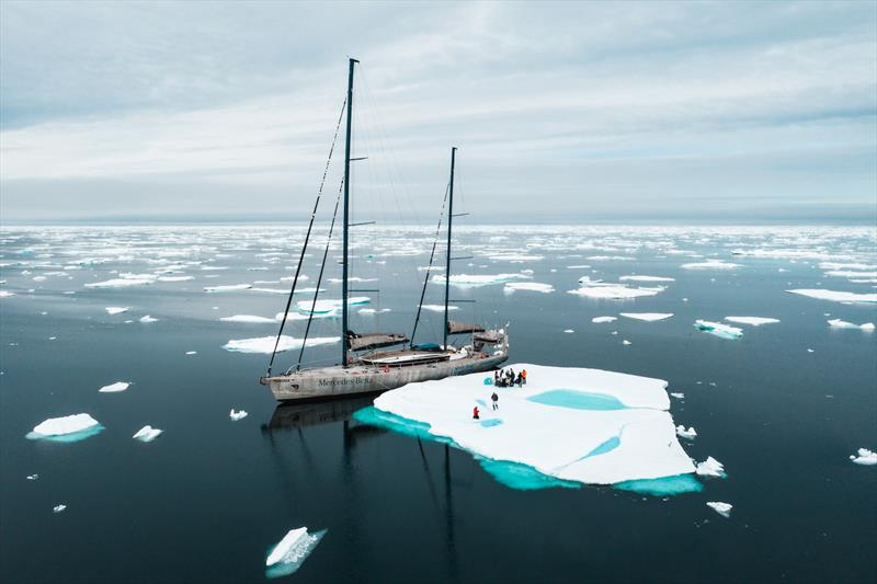 Pangaea's crew visits an iceberg photo copyright Etienne Claret taken at New York Yacht Club and featuring the Cruising Yacht class