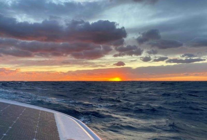 Sunset after a stormy day photo copyright Jimmy Cornell taken at  and featuring the Cruising Yacht class