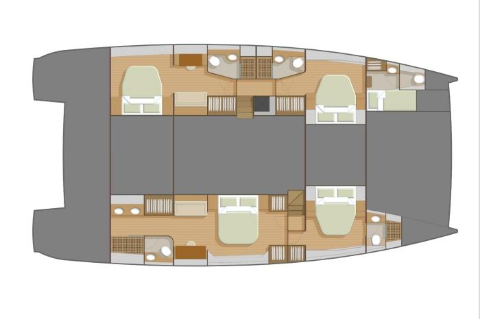Private version bottom layout - Seaview 56 photo copyright Heysea taken at  and featuring the Cruising Yacht class