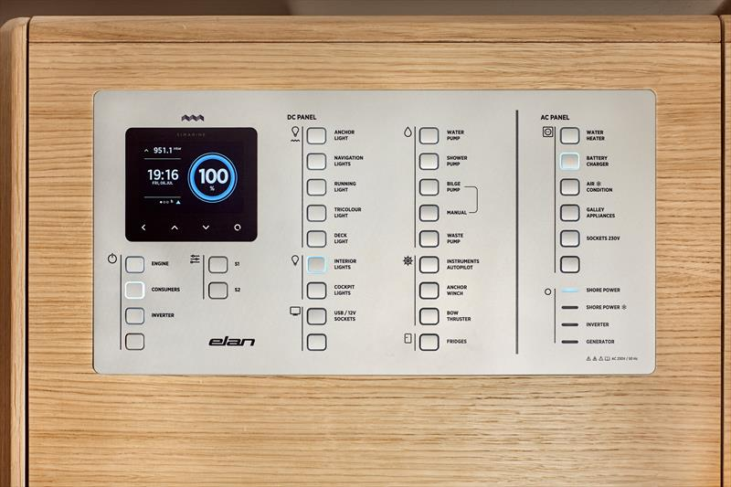 Instrument panel on the Elan E4 - photo © Elan Yachts