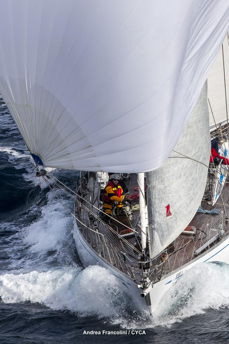 Now that is old school - winches on the deck!!! One Sails are gonna love this one... Ponant Sydney to Noumea Race - photo © Andrea Francolini