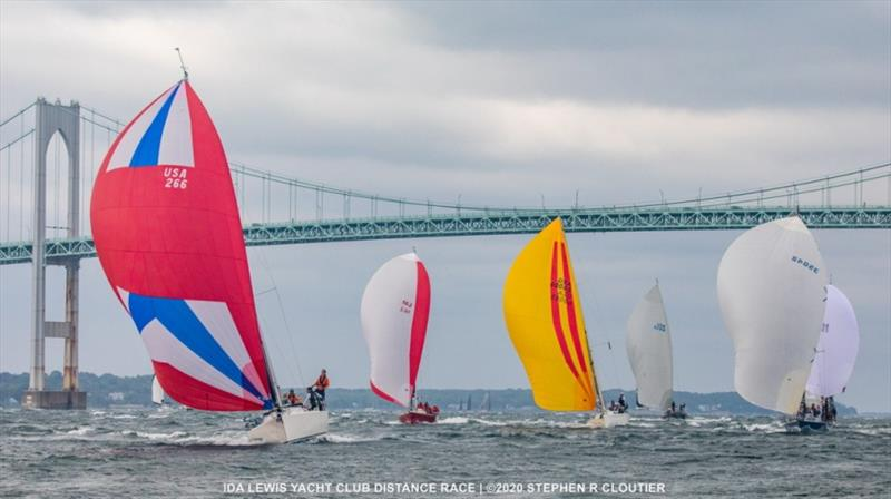 Action on the water at the 2020 Ida Lewis Distance Race. - photo © Stephen R. Cloutier