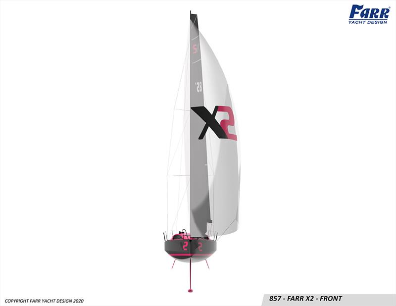 Significant sail plan for the 30-foot Farr X2 - photo © Farr Yacht Design