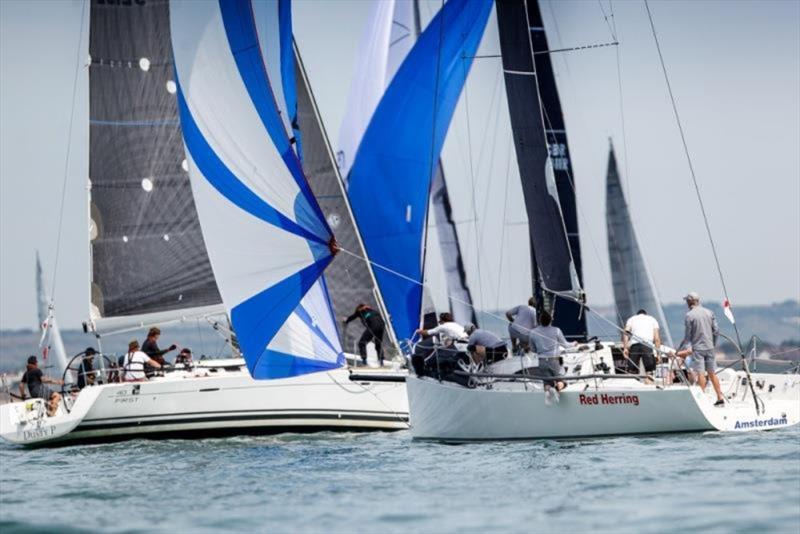 Jan van Berne's J/111 Red Herring and Richard Patrick's First 40 Dusty P. - photo © Paul Wyeth