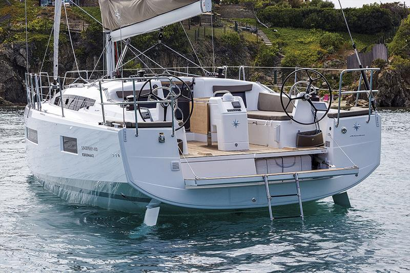 Loads of space and aft section clean out of the water - new Jeanneau Sun Odyssey 410 - photo © Guillaume Gauter