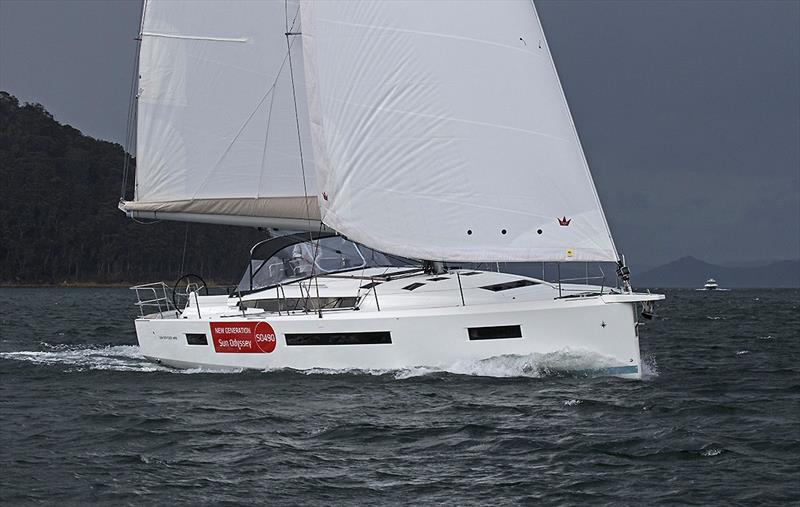 She must be quite something in the performance spec with a 1.6m taller rig - Jeanneau Sun Odyssey 490 - photo © John Curnow