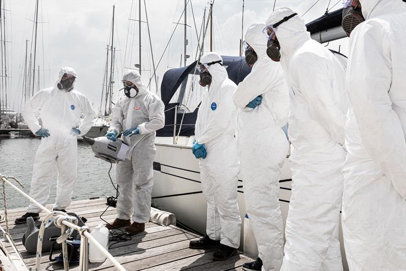 Decontamination of boat interiors now available at Berthon - photo © Harry Shutler