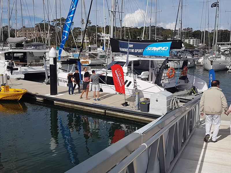 Multihull Central's  Seawind 1190 - Club Marine Pittwater Sail Expo 2018 - photo © Peter Rendle