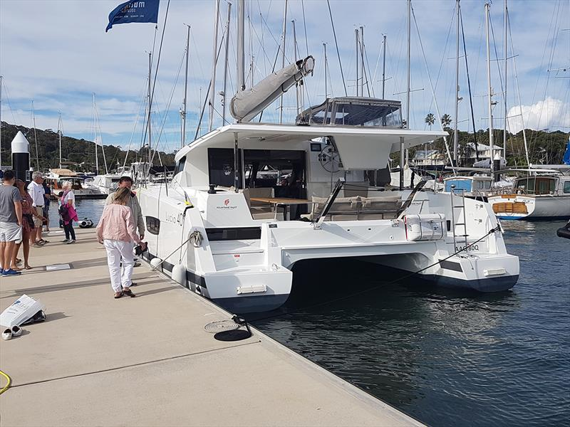 Multihull Solutions displayed the Fountaine Pajot Lucia 40 - Club Marine Pittwater Sail Expo 2018 - photo © Peter Rendle