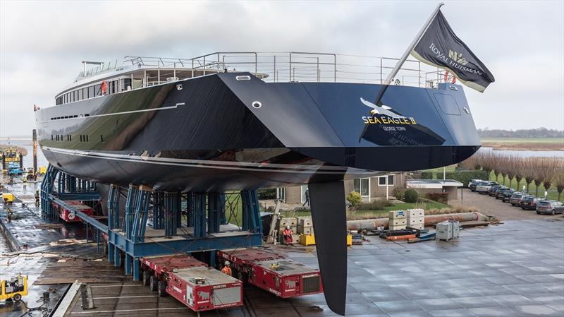 Royal Huisman project 400 - Sea Eagle II photo copyright Priska vdrr Meulen taken at  and featuring the Marine Industry class