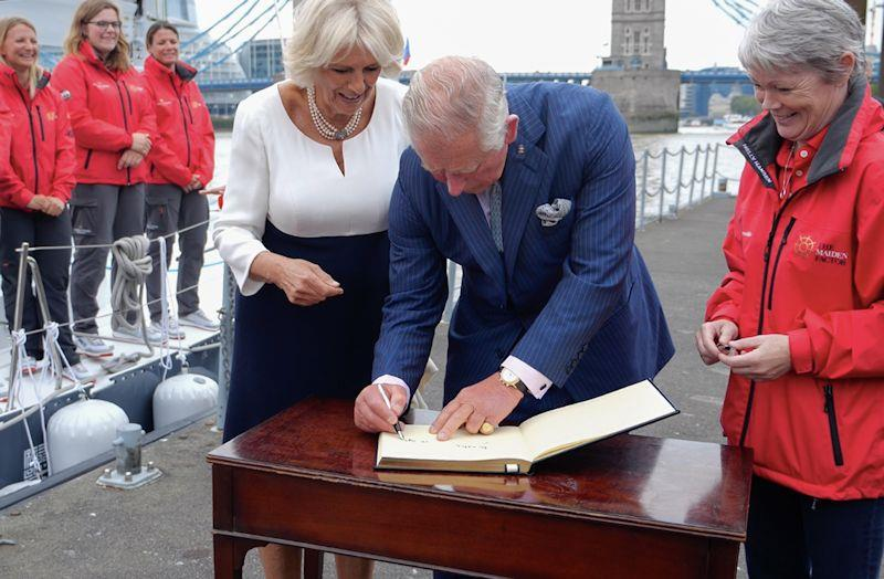 TRH The Prince of Wales and The Duchess of Cornwall were invited to meet the newly restored Maiden - photo © Maiden