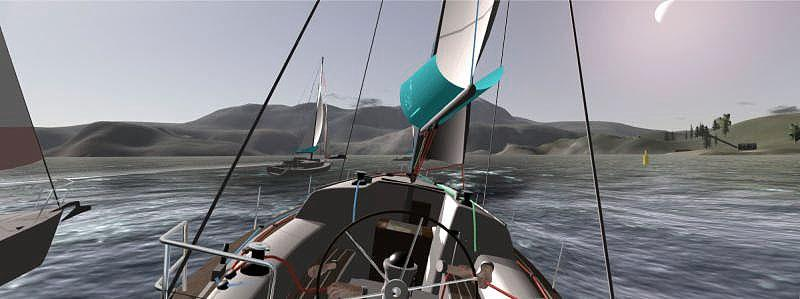 Actual screen grab from the eSail Sailing Simulator - photo © eSail Sailing Simulator