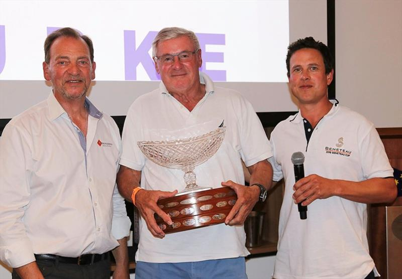 Flagstaff Marine's Graham Raspass and Micah Lane flank David Boekemann, 2018 winner of the Beneteau Cup. - photo © Alex McKinnon Photography
