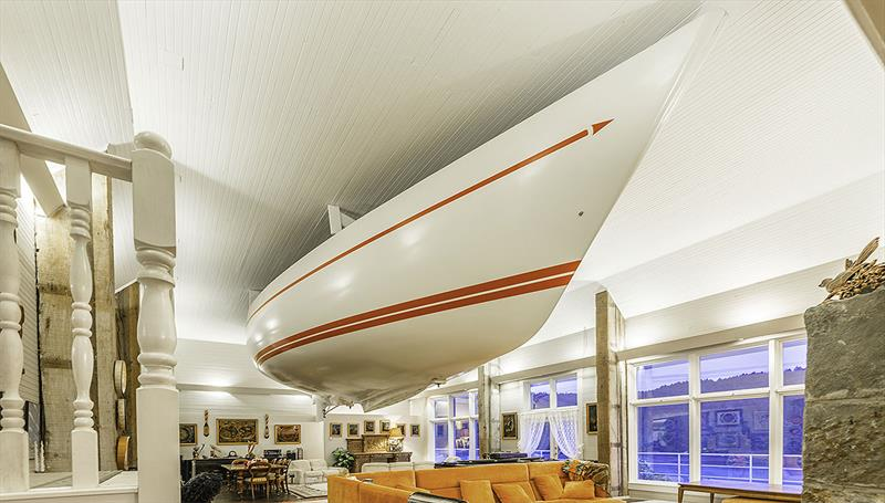 Yes - that is a 41 and a half foot IRC racer in the lounge... - photo © Brian Danyliw