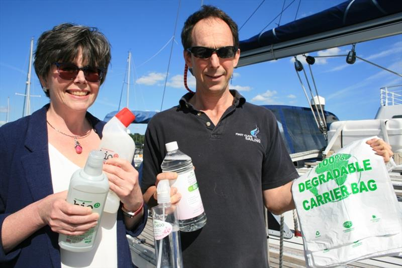 (L to R) Jeannette Jones, AnyGreenWillDo and Charlie Tulloch, Principal  First Class Sailing - photo © Xan Phillips