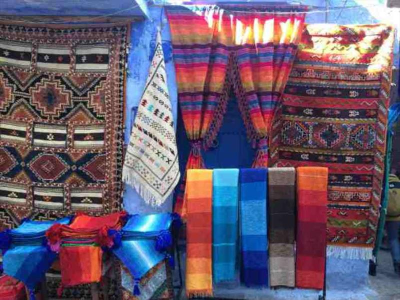 Moroccan fabrics - photo © SV Red Roo
