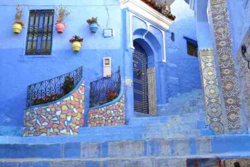 Chefchaouen streets simply beautiful - photo © SV Red Roo