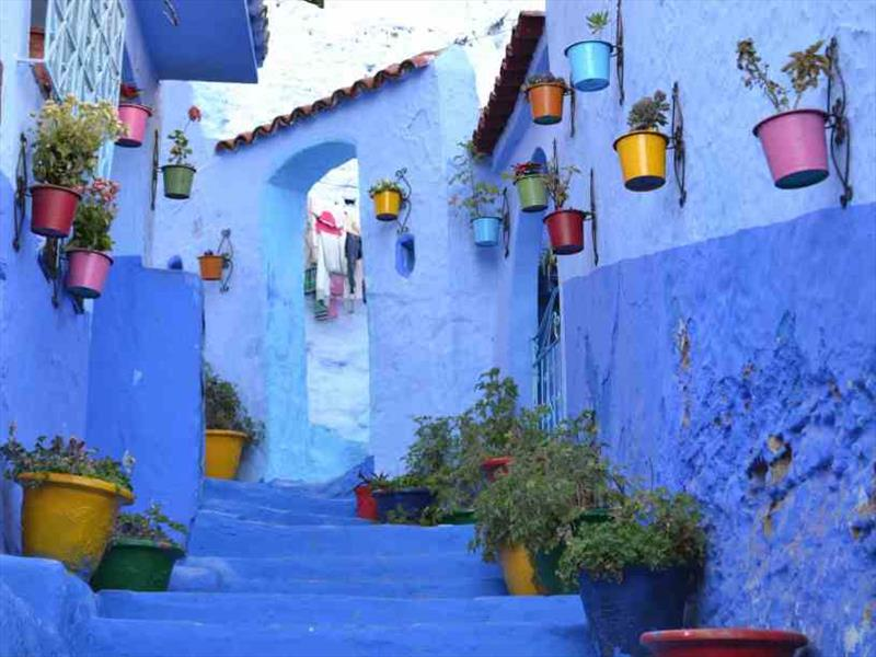 The postcard shot of Chefchaouen - photo © SV Red Roo