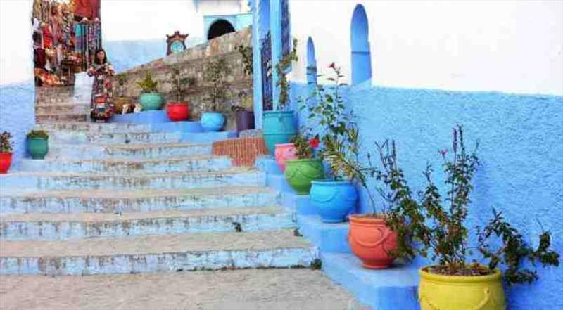Streets of Chefchaouen - photo © SV Red Roo