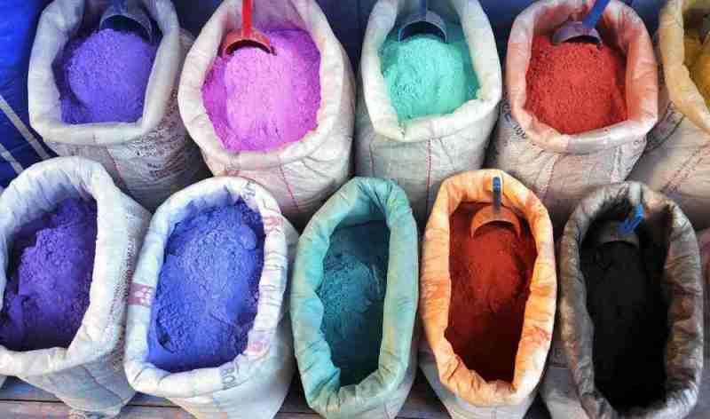 Colour pigments for sale in the medina - photo © SV Red Roo