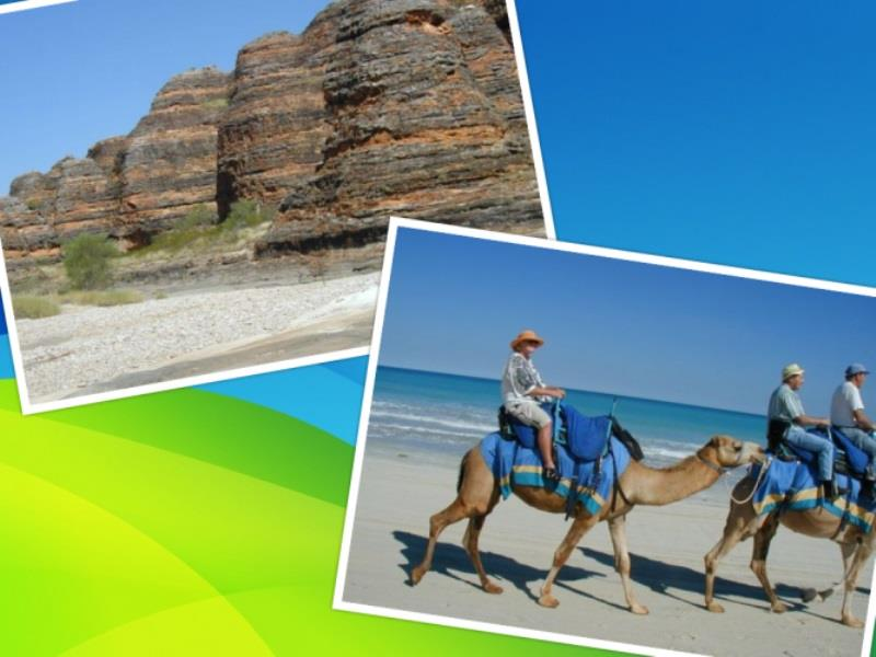 Bungle Bungles and camel riding along Cable Beach - photo © Hugh & Heather Bacon