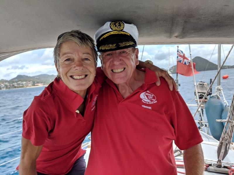 Steve and Anita on Timshel - photo © World Cruising Club