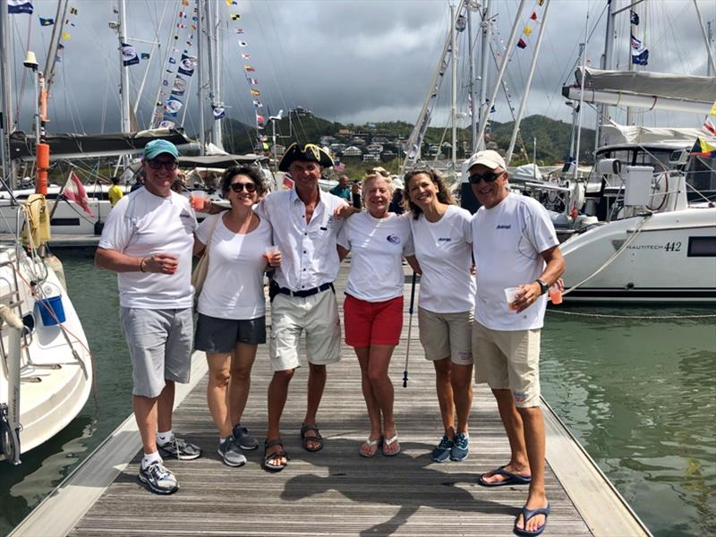 Crews of Madrigal and Pretaixte returning to Rodney Bay Saint Lucia completing their circumnavigation - photo © World Cruising Club