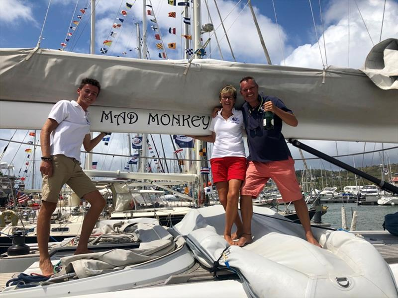 Josh, Helen, and Mark from Mad Monkey complete their 15 month circumnavigation - photo © World Cruising Club