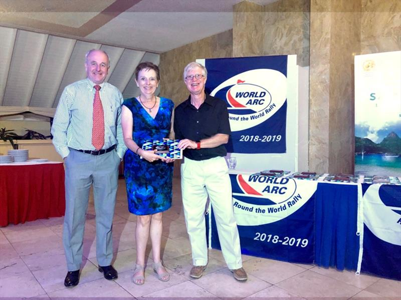 Ros and Howard Cheetham from Yacht Misto, with World Cruising Club's Andrew Bishop - photo © World Cruising Club