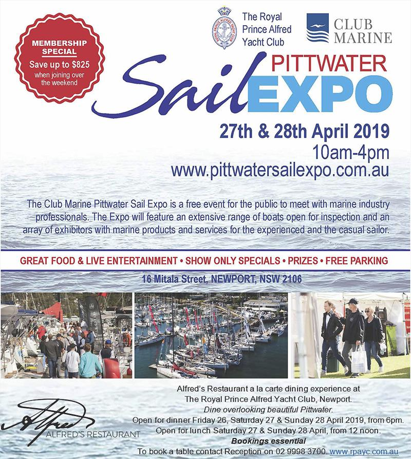 Royal Prince Alfred YC Pittwater Sail Expo 2019 - photo © Royal Prince Alfred Yacht Club