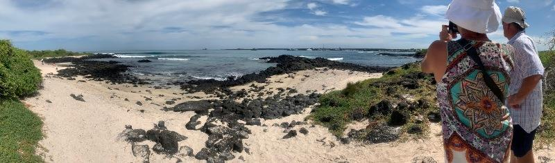The Iquana beach with Taipan in the distance - photo © SV Taipan