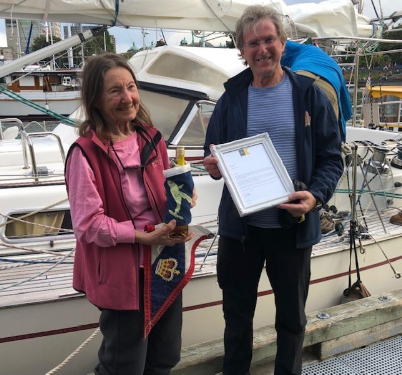 OCC Member Jeanne Socrates completes circumnavigation at Age of 77 photo copyright Ocean Cruising Club taken at