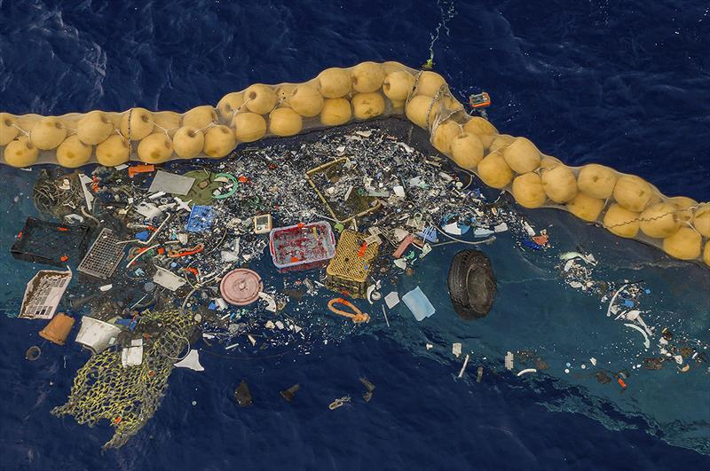 The Ocean Cleanup successfully catches plastic in Great Pacific Garbage Patch - photo © The Ocean Cleanup