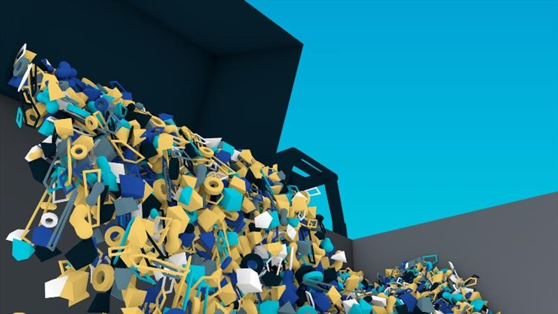 Animation of dumpsters from the Interceptor being emptied. photo copyright The Ocean Cleanup taken at