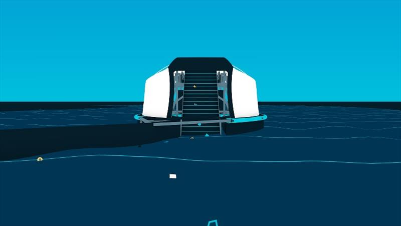 The Interceptor™ animation - front view - photo © The Ocean Cleanup