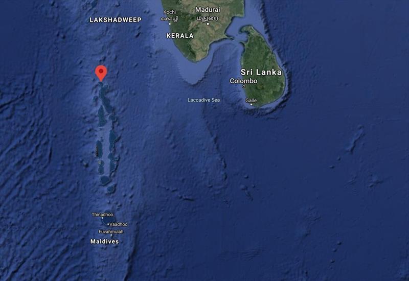 Uligan is in Haa Alifu Atoll in the far north of the Maldives - photo © Google Map