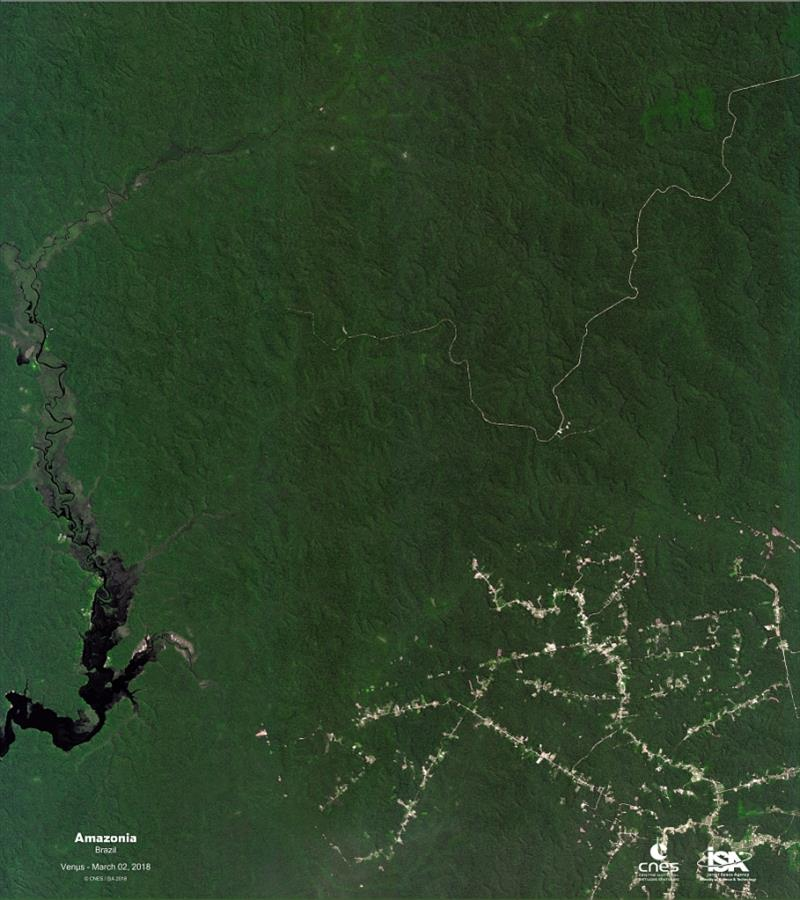 The Amazon rainforest as seen by the Venµs satellite - photo © CNES