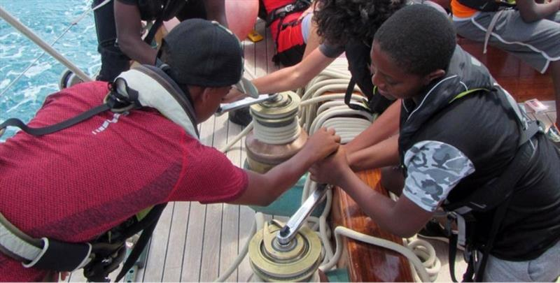 The motto of the Bermuda Sloop Foundation is Changing Lives, One Voyage at a Time, Over Time - photo © Bermuda Sloop Foundation