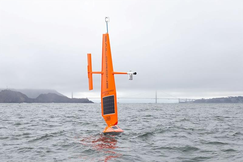 SD 1069 begins its roughly 3,000 nautical mile transit from San Francisco to the survey area north of Alaska. - photo © Saildrone