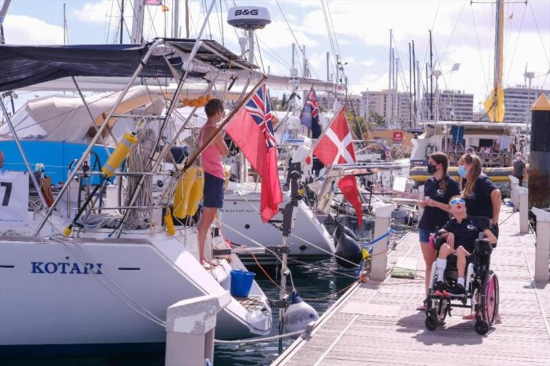 Natasha Lambert, with mum Amanda and sister Rachel sailing to raise money for UK charities. photo copyright WCC / Jésus de Leon taken at
