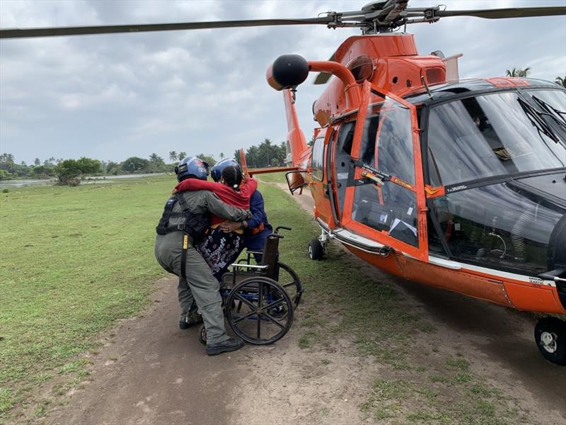 The Coast Guard is assisting in urgent search and rescue and redistribution of relief aid in Honduras affected by Hurricane Eta. - photo © U.S. Coast Guard