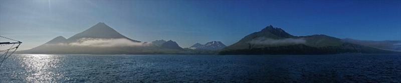 Panorama of Kiska Island, in the western Aleutian Islands, on a sunny evening in 2014. - photo © NOAA Fisheries