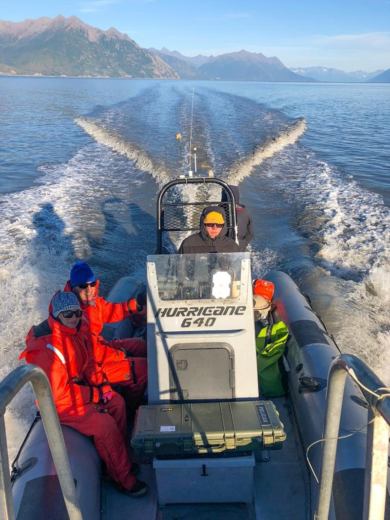 NOAA Fisheries researchers in Cook Inlet, Alaska to collect beluga whale skin samples in 2018. photo copyright NOAA Fisheries taken at